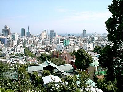 神戸北野天満宮からの景色