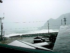 宿からみた日本海