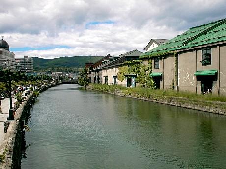 小樽運河の定番撮影場所から