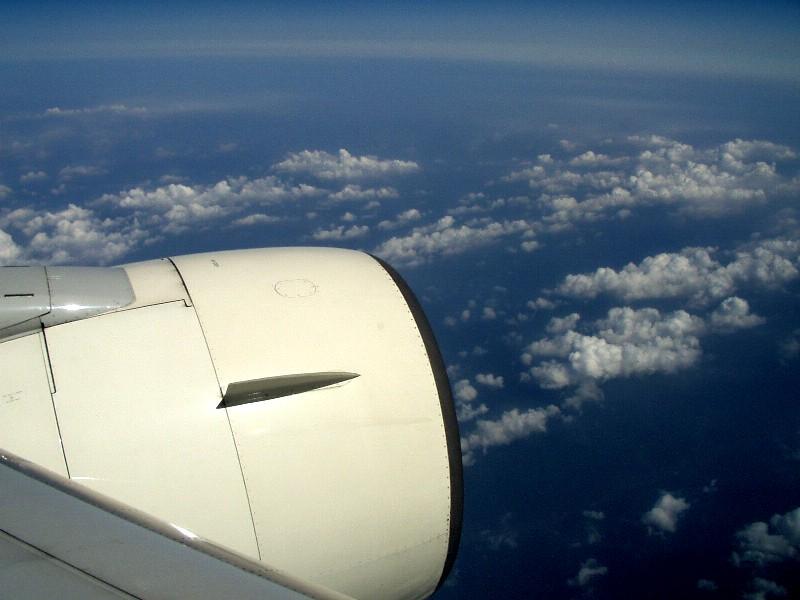 機内から撮影